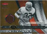 2008 Upper Deck Icons NFL Chronology Jersey Gold #CHR2 Jim Brown /50