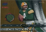 2008 Upper Deck Icons NFL Chronology Jersey Gold #CHR20 Brett Favre /50