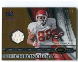 2008 Upper Deck Icons NFL Chronology Jersey Gold #CHR37 Tony Gonzalez /50