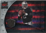 2008 Upper Deck Icons Future Foundations Jersey Silver #FF15 JaMarcus Russell /199