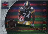 2008 Upper Deck Icons Future Foundations Jersey Silver #FF24 Rashard Mendenhall /199