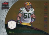 2008 Upper Deck Icons Future Foundations Jersey Gold #FF1 A.J. Hawk /75