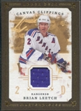 2008/09 Upper Deck UD Masterpieces Canvas Clippings Brown #CCBL Brian Leetch