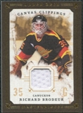 2008/09 Upper Deck UD Masterpieces Canvas Clippings Brown #CCBR Richard Brodeur