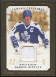 2008/09 Upper Deck UD Masterpieces Canvas Clippings Brown #CCDS Darryl Sittler