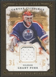 2008/09 Upper Deck UD Masterpieces Canvas Clippings Brown #CCGF Grant Fuhr