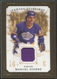 2008/09 Upper Deck UD Masterpieces Canvas Clippings Brown #CCMD Marcel Dionne