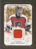 2008/09 Upper Deck UD Masterpieces Canvas Clippings Brown #CCRH Ron Hextall