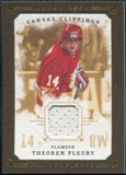 2008/09 Upper Deck UD Masterpieces Canvas Clippings Brown #CCTF Theoren Fleury