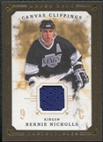 2008/09 Upper Deck UD Masterpieces Canvas Clippings Brown #CCBN2 Bernie Nicholls