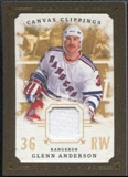 2008/09 Upper Deck UD Masterpieces Canvas Clippings Brown #CCGA1 Glenn Anderson