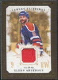 2008/09 Upper Deck UD Masterpieces Canvas Clippings Brown #CCGA2 Glenn Anderson