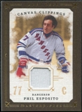 2008/09 Upper Deck UD Masterpieces Canvas Clippings Brown #CCPE2 Phil Esposito