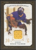 2008/09 Upper Deck UD Masterpieces Canvas Clippings Brown #CCRV1 Rogie Vachon