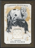2008/09 Upper Deck UD Masterpieces Canvas Clippings Brown #CCRV2 Rogie Vachon
