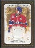 2008/09 Upper Deck UD Masterpieces Canvas Clippings Brown #CCSA2 Denis Savard