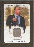 2008/09 Upper Deck UD Masterpieces Canvas Clippings Brown #CCSB3 Scotty Bowman
