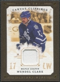 2008/09 Upper Deck UD Masterpieces Canvas Clippings Brown #CCWC1 Wendel Clark
