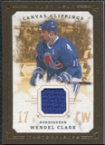 2008/09 Upper Deck UD Masterpieces Canvas Clippings Brown #CCWC2 Wendel Clark
