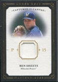 2008 Upper Deck UD Masterpieces Captured on Canvas #BS Ben Sheets
