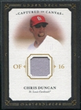 2008 Upper Deck UD Masterpieces Captured on Canvas #CD Chris Duncan