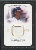 2008 Upper Deck UD Masterpieces Captured on Canvas #CF Carlton Fisk