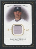 2008 Upper Deck UD Masterpieces Captured on Canvas #DM Don Mattingly
