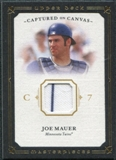 2008 Upper Deck UD Masterpieces Captured on Canvas #JM Joe Mauer