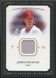 2008 Upper Deck UD Masterpieces Captured on Canvas #JW Jered Weaver