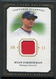 2008 Upper Deck UD Masterpieces Captured on Canvas #RZ Ryan Zimmerman