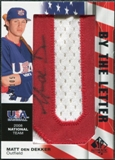 2008 Upper Deck SP Authentic USA National Team By the Letter Autographs #MD Matt den Dekker /105