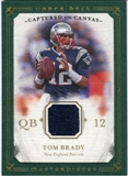 2008 Upper Deck UD Masterpieces Captured on Canvas Jerseys #CC1 Tom Brady