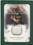 2008 Upper Deck UD Masterpieces Captured on Canvas Jerseys #CC4 Brian Brohm