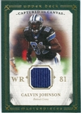 2008 Upper Deck UD Masterpieces Captured on Canvas Jerseys #CC6 Calvin Johnson