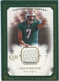 2008 Upper Deck UD Masterpieces Captured on Canvas Jerseys #CC7 Chad Henne