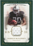 2008 Upper Deck UD Masterpieces Captured on Canvas Jerseys #CC14 Darren McFadden