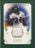 2008 Upper Deck UD Masterpieces Captured on Canvas Jerseys #CC24 Ed Reed