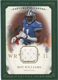 2008 Upper Deck UD Masterpieces Captured on Canvas Jerseys #CC29 Roy Williams WR