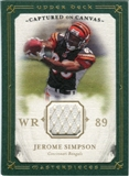 2008 Upper Deck UD Masterpieces Captured on Canvas Jerseys #CC54 Jerome Simpson