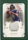 2008 Upper Deck UD Masterpieces Captured on Canvas Jerseys #CC56 Ray Rice