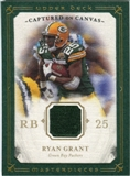 2008 Upper Deck UD Masterpieces Captured on Canvas Jerseys #CC57 Ryan Grant