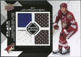 2008/09 Upper Deck Black Diamond Jerseys Quad #BDJEJ Ed Jovanovski