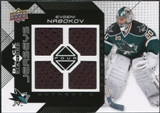2008/09 Upper Deck Black Diamond Jerseys Quad #BDJEN Evgeni Nabokov