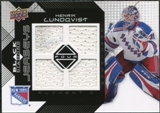 2008/09 Upper Deck Black Diamond Jerseys Quad #BDJHL Henrik Lundqvist