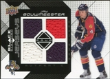 2008/09 Upper Deck Black Diamond Jerseys Quad #BDJJB Jay Bouwmeester