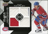 2008/09 Upper Deck Black Diamond Jerseys Quad #BDJKO Alex Kovalev