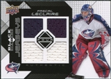 2008/09 Upper Deck Black Diamond Jerseys Quad #BDJPL Pascal Leclaire