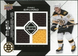 2008/09 Upper Deck Black Diamond Jerseys Quad #BDJSA Marc Savard