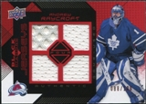 2008/09 Upper Deck Black Diamond Jerseys Quad Ruby #BDJAR Andrew Raycroft /100