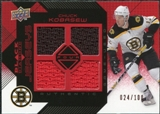 2008/09 Upper Deck Black Diamond Jerseys Quad Ruby #BDJCK Chuck Kobasew /100